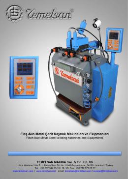 Flaş Alın Metal Şerit Kaynak Makinaları ve Ekipmanları