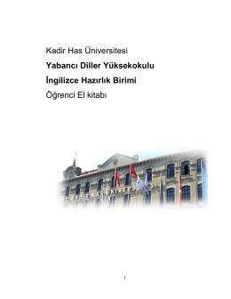 Öğrenci El Kitabı - Kadir Has Üniversitesi