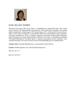 Prof. Dr. Sibel AKSU YILDIRIM - Fizik Tedavi ve Rehabilitasyon