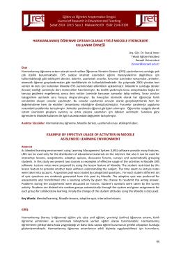Makale - Akademik Personel Bilgi Bankası