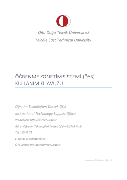 öys - metu lms 2013-2014 spring - Middle East Technical University