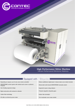 High Performance Slitter Machine