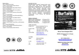 Bursa Tarım Kongresi 2014 - Kastamonu İl Gıda Tarım ve