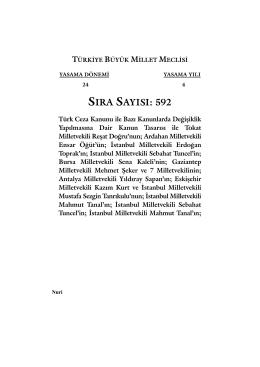 ss592 (1-30):Mizanpaj 1.qxd - Kanunlar Genel Müdürlüğü