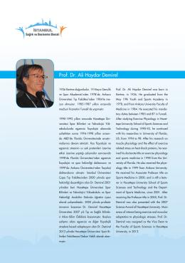 Prof. Dr. Ali Haydar Demirel - İstanbul Sağlık ve Beslenme Bienali