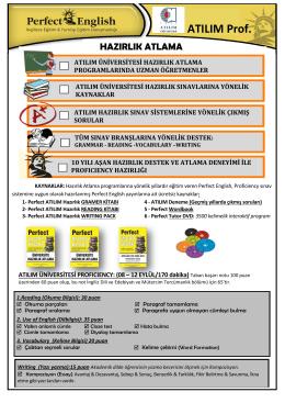 atılım üniversitesi hazırlık atlama güncel broşürü