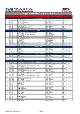 05-beşel bijon fiyat listesi(2014) - M.Taha Otomotiv