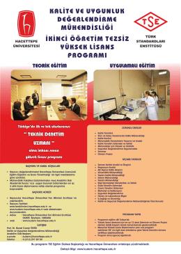 Program Afişi - Kalite ve uygunluk değerlendirme mühendisliği