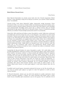 Klasik Osmanlı Sanatı Ders Notu