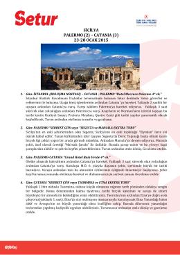 SİCİLYA PALERMO (2) – CATANIA (3) 23-28 OCAK 2015