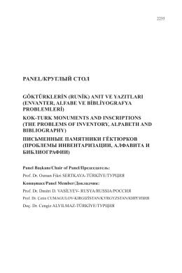 anıt ve yazıtları - kok- turk monuments and ınscrıptıons