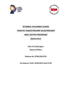 İşletmeler - İstanbul Kalkınma Ajansı