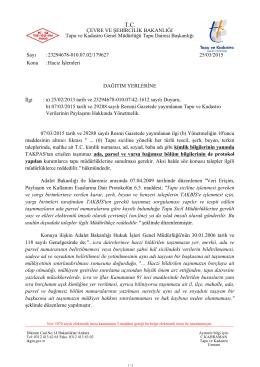 Haciz İşlemleri - Tapu ve Kadastro Genel Müdürlüğü