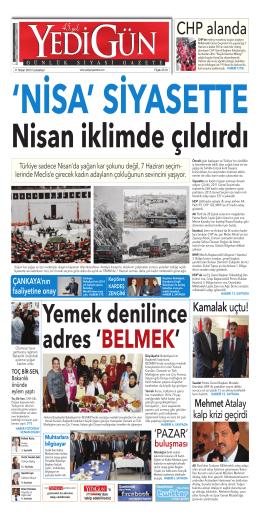 CHP alanda - Yedigün Gazetesi