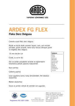 ARDEX FG FLEX - ARDEX Türkiye