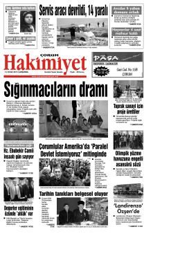 14 ocak.qxd - Çorum Hakimiyet Gazetesi