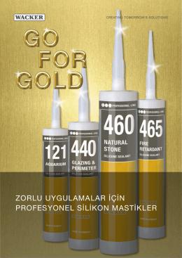 zorlu uygulamalar için profesyonel silikon mastikler