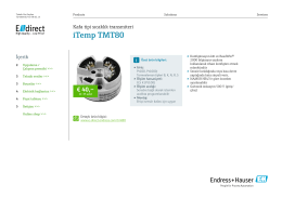 iTemp TMT80 (PDF 1,87 MB) - E-direct