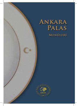 Ankara Palas Menü Sunumu