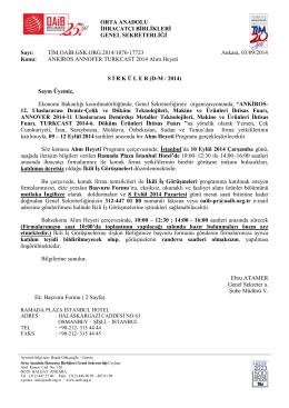 Orta Anadolu İhracatçı Birlikleri Genel Sekreterliği