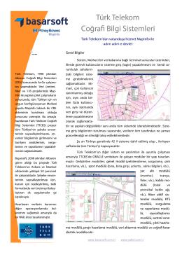 Türk Telekom Coğrafi Bilgi Sistemleri