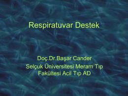 Mekanik ventilasyon - Prof. Dr. Başar CANDER