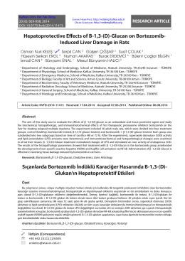 Sıçanlarda Bortezomib İndüklü Karaciğer Hasarında B-1,3-(D