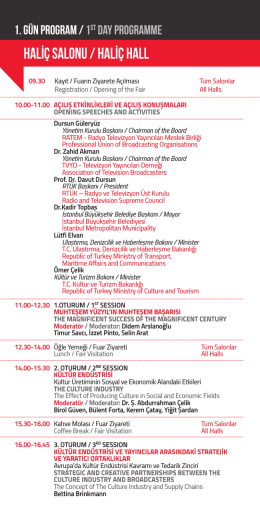İTVF 2014 Forum Programı
