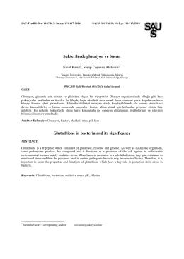 Bakterilerde glutatyon ve önemi Glutathione in bacteria and its