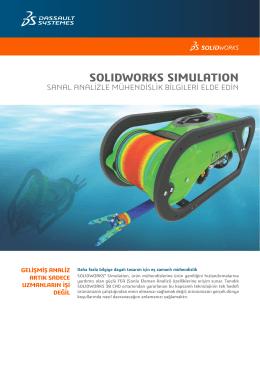 SOLIDWORKS Simulation FEA Veri Sayfası