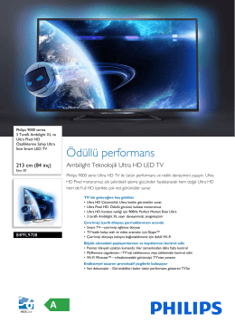 84PFL9708/78 Philips 3 Taraflı Ambilight XL ve Ultra Pixel HD