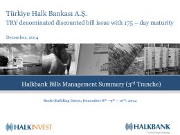 Türkiye Halk Bankası A.Ş. issues 175 – day