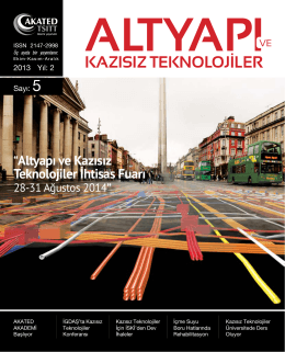 """""""Altyapı ve Kazısız Teknolojiler İhtisas Fuarı"""
