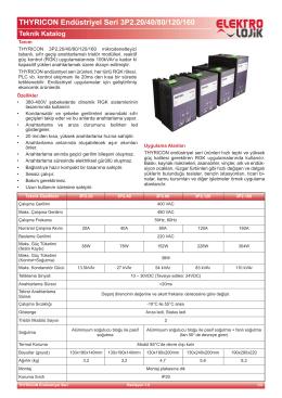 THYRICON Endüstriyel Seri 3P2.20/40/80/120/160