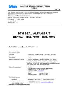 btmseal alfa hibrit beyaz-ral7040