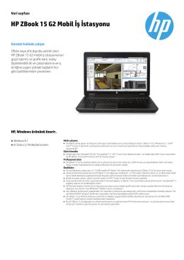 HP ZBook 15 G2 Mobil İş İstasyonu - Hewlett