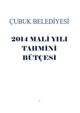 2014 Bütçe - Çubuk Belediyesi