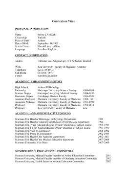 Curriculum Vitae - School of Medicine