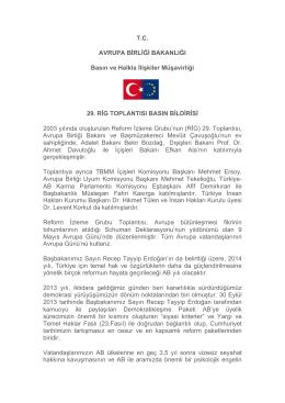 TC AVRUPA BİRLİĞİ BAKANLIĞI Basın ve Halkla İlişkiler Müşavirliği