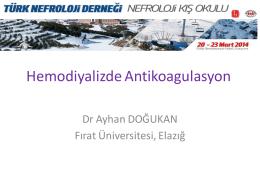 Hemodiyalizde antikoagülasyon