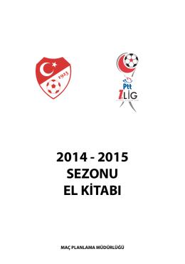 PTT 1. Lig Fikstür Kitabı - Türkiye Futbol Federasyonu