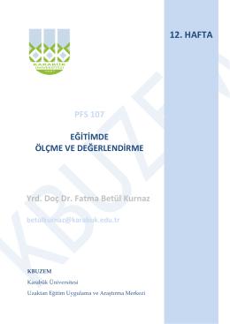 12. HAFTA - Karabük Üniversitesi