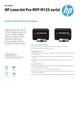 HP LaserJet Pro MFP M125 serisi