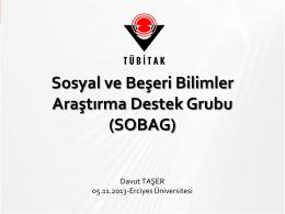 Sosyal ve Beşeri Bilimler Araştırma Destek Grubu (SOBAG)