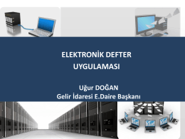 e-DEFTER - İstanbul Ymmo