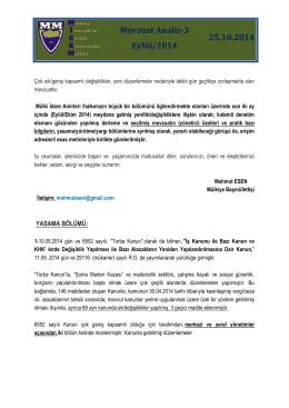mevzuat analiz-3 eylül/2014 için tıklayınız