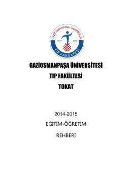2014-2015 Eğitim-Öğretim Rehberi - Tıp Eğitimi ve Bilişimi Anabilim