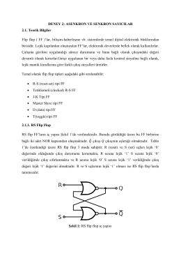 ASENKRON VE SENKRON SAYICILAR 2.1. Teorik Bilgiler Flip flop
