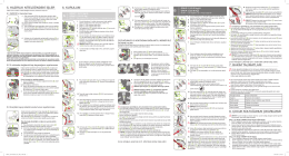 5. hazırlık niteliğindeki işler 6. kurulum 7. bakım talimatları 8. çocuk