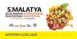 gösterim çizelgesi.indd - Malatya Uluslararası Film Festivali